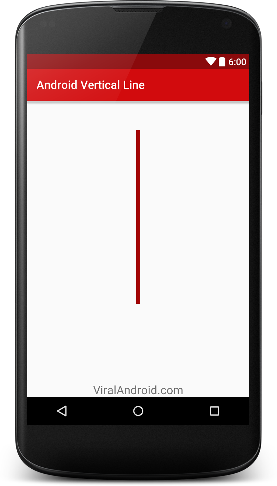 How to Create Vertical Line in Android Using XML