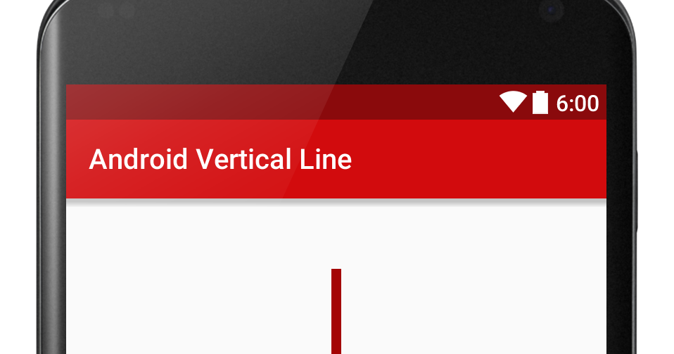 How to Create Vertical and Horizontal Lines in Android Using