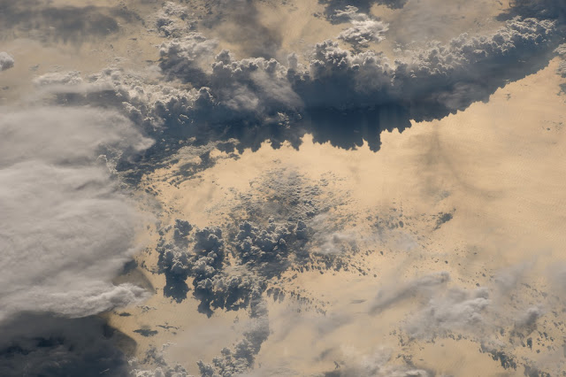 Clouds over Pacific Ocean seen from the International Space Station