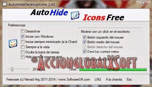 AutoHideDesktopIcons 4.01 - Oculta los iconos de tu escritorio con un clic