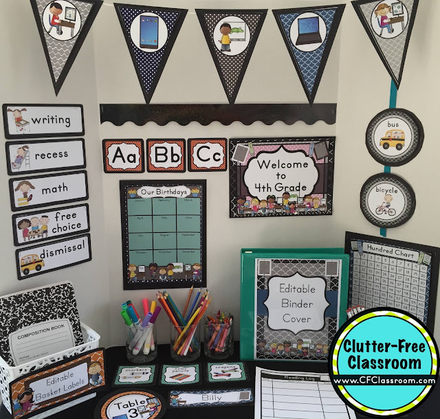 Classroom Ideas Printables ~ Technology themed classroom ideas printable