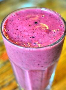 resep minuman coconut berry smoothie