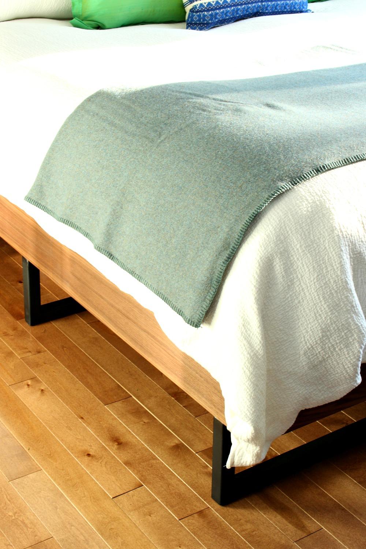 DIY Walnut Bed with Welded Legs