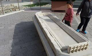 Maqueta de cómo era el Estadio Romano de Plovdiv.