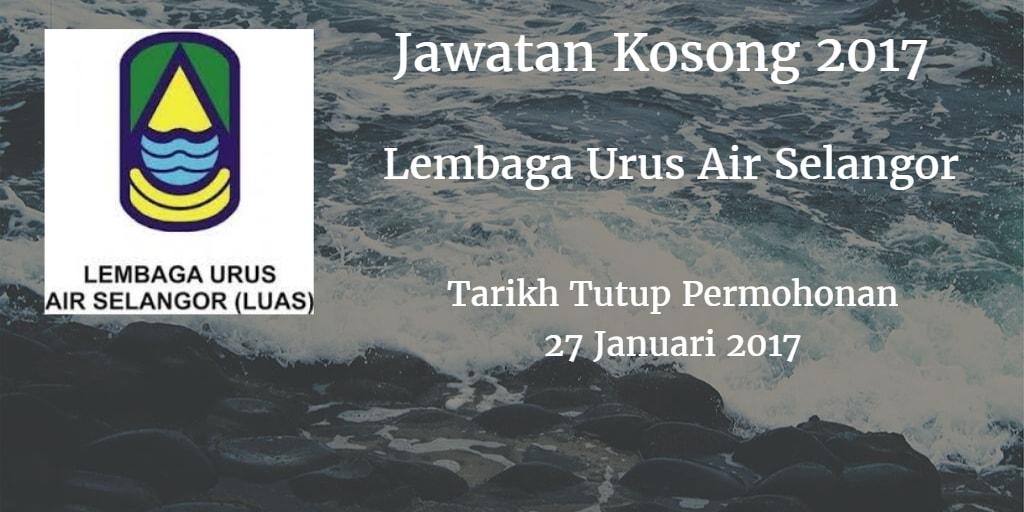 Jawatan Kosong Lembaga Urus Air Selangor 27 Januari 2017