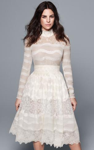vestido corto de novia H&M Conscious Exclusive