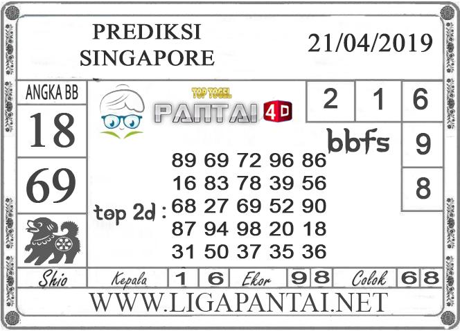 """Prediksi Togel """"SINGAPORE"""" PANTAI4D 21 APRIL 2019"""