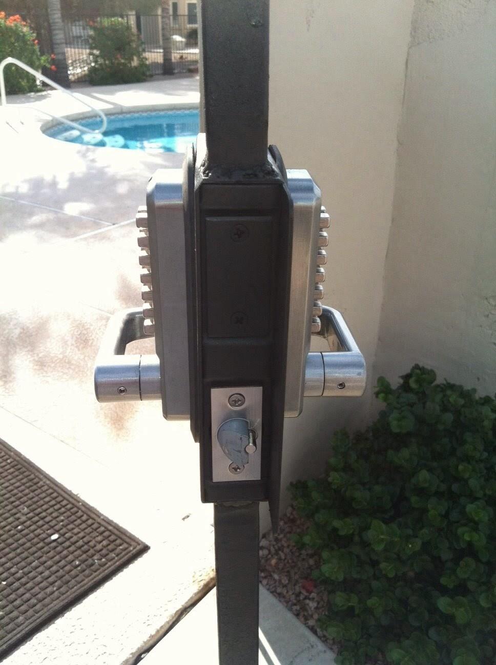 Pool Gate Hoa Code Locks