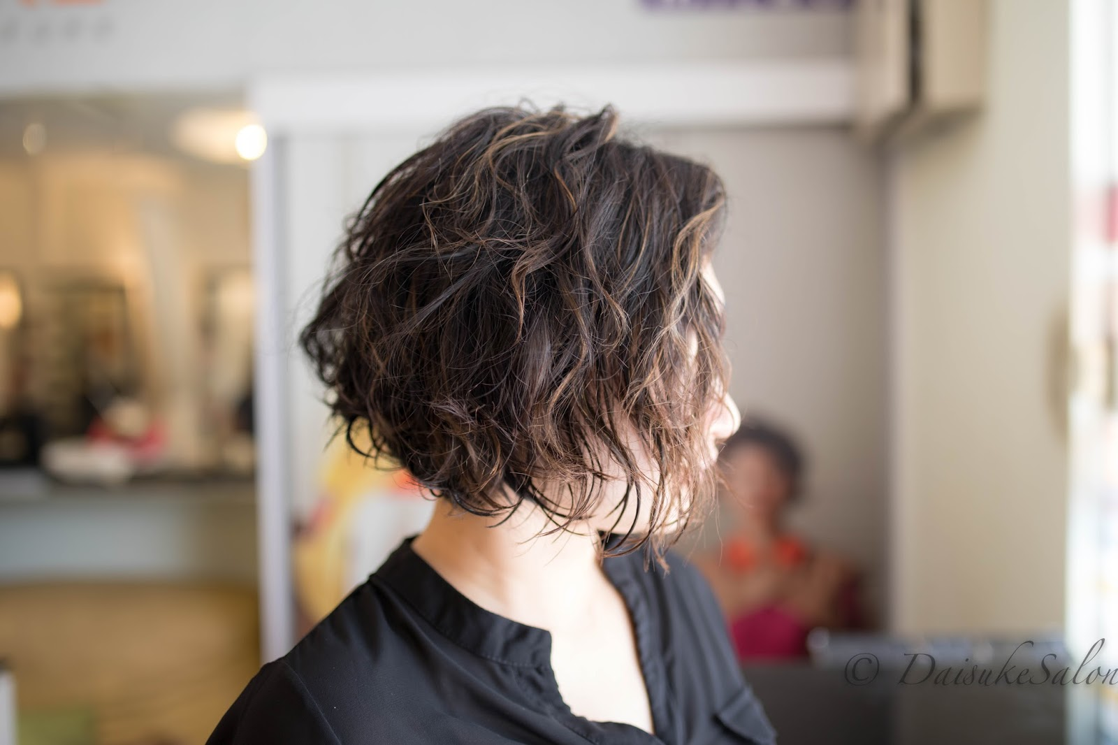 Welcome Japanese Air Wave Perm With Thin Highlight
