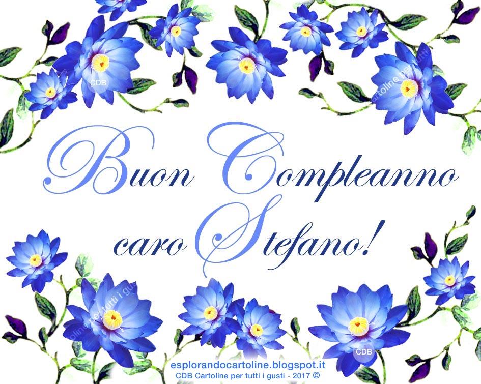 Fiori Azzurri.Cdb Cartoline Per Tutti I Gusti Cartolina Buon Compleanno