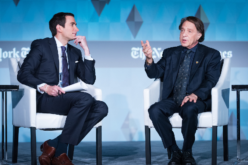 Andrew Ross Sorkin and Ray Kurzweil