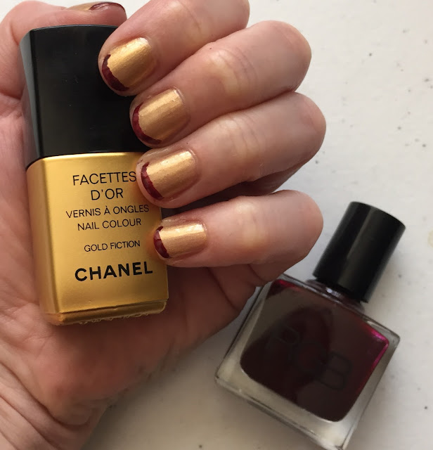Chanel, Chanel Gold Fiction, RGB Cosmetics, RGB Oxblood, nails, nail polish, nail lacquer, nail varnish, manicure, #manimonday, nail art, French manicure, Cleveland Cavliers, NBA national champions