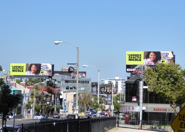 Loosely Exactly Nicole MTV series billboards Sunset Strip