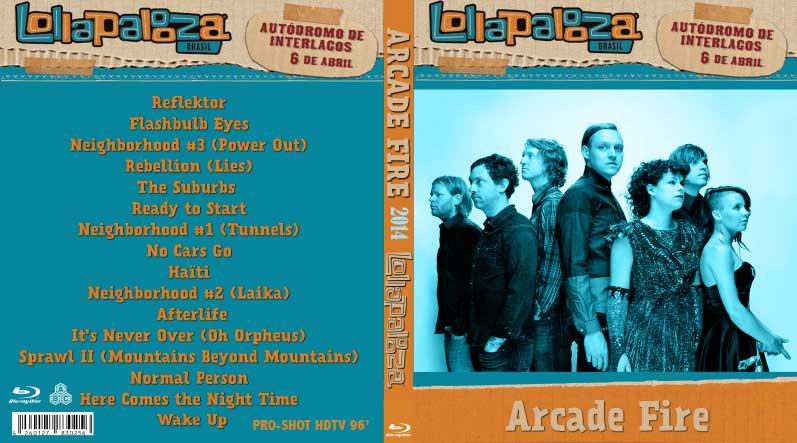 BLURAY LIVE CONCERT: Arcade Fire - Lollapalooza 2014