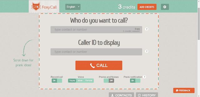 موقع لاجراء مكالمات ورسائل مجانية