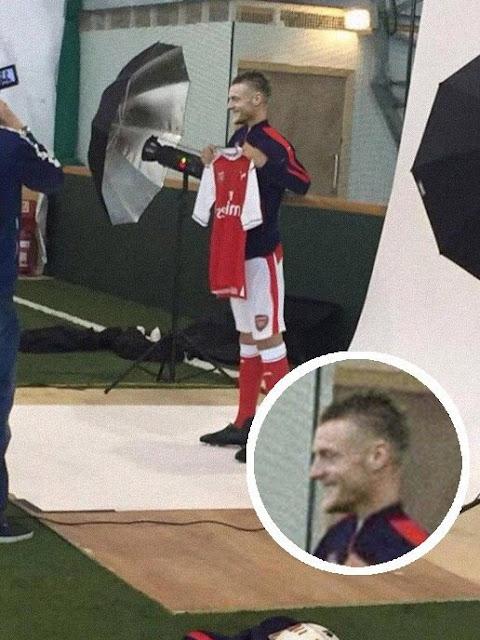 Ini Klarifikasi Foto Palsu Vardy Tipu Fans Arsenal