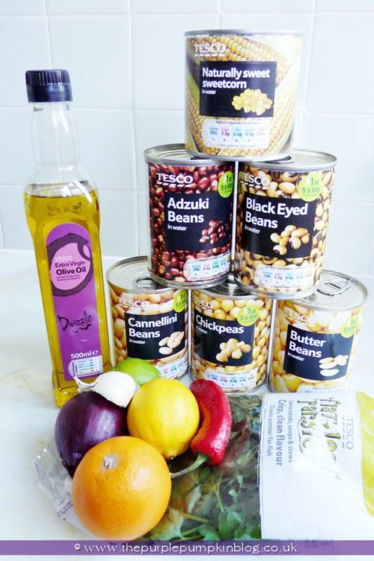 Five Bean Salad with Chilli Citrus Dressing at The Purple Pumpkin Blog