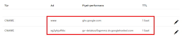 Blogspot Domain Yönlendirme DNS Kaydı -Kurgu Gücü