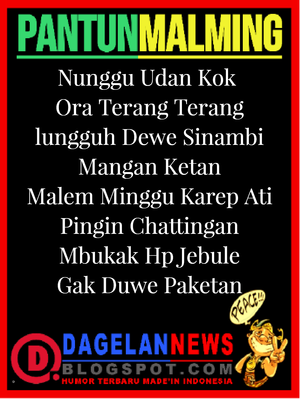 Kata Kata Lucu Malam Minggu Bahasa Jawa