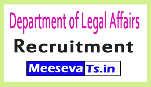 Department of Legal Affairs Recruitment