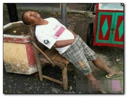 foto lucu orang tidur