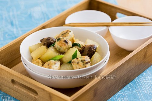 釀豆腐泡炆冬瓜  Braised Winter Melon with Stuffed Tofu Puffs02