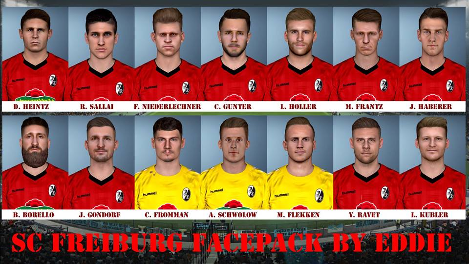 PES 2017 sc freiburg facepack by Eddie Facemakers