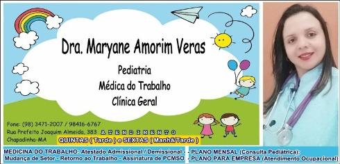 Resultado de imagem para Dra Maryane Veras