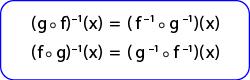 Hubungan Fungsi Invers dengan Fungsi Komposisi