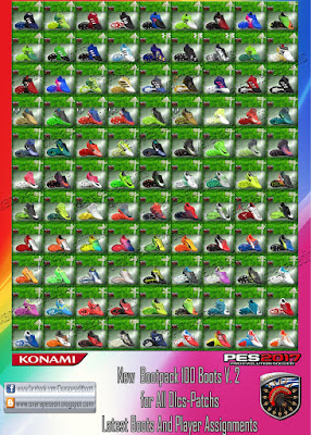 PES 2017 OxaraPESEdit BootPack v2 AIO ( 100 Boots )