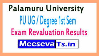 Palamuru University PU UG / Degree 1st Sem Exam Revaluation Results 2017