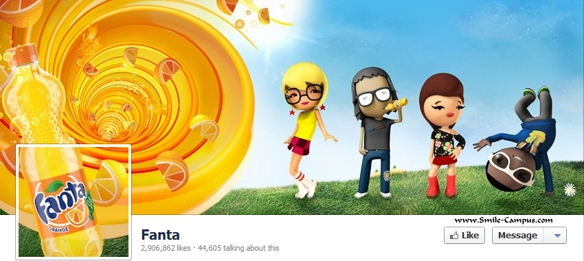 Facebook page of Fanta