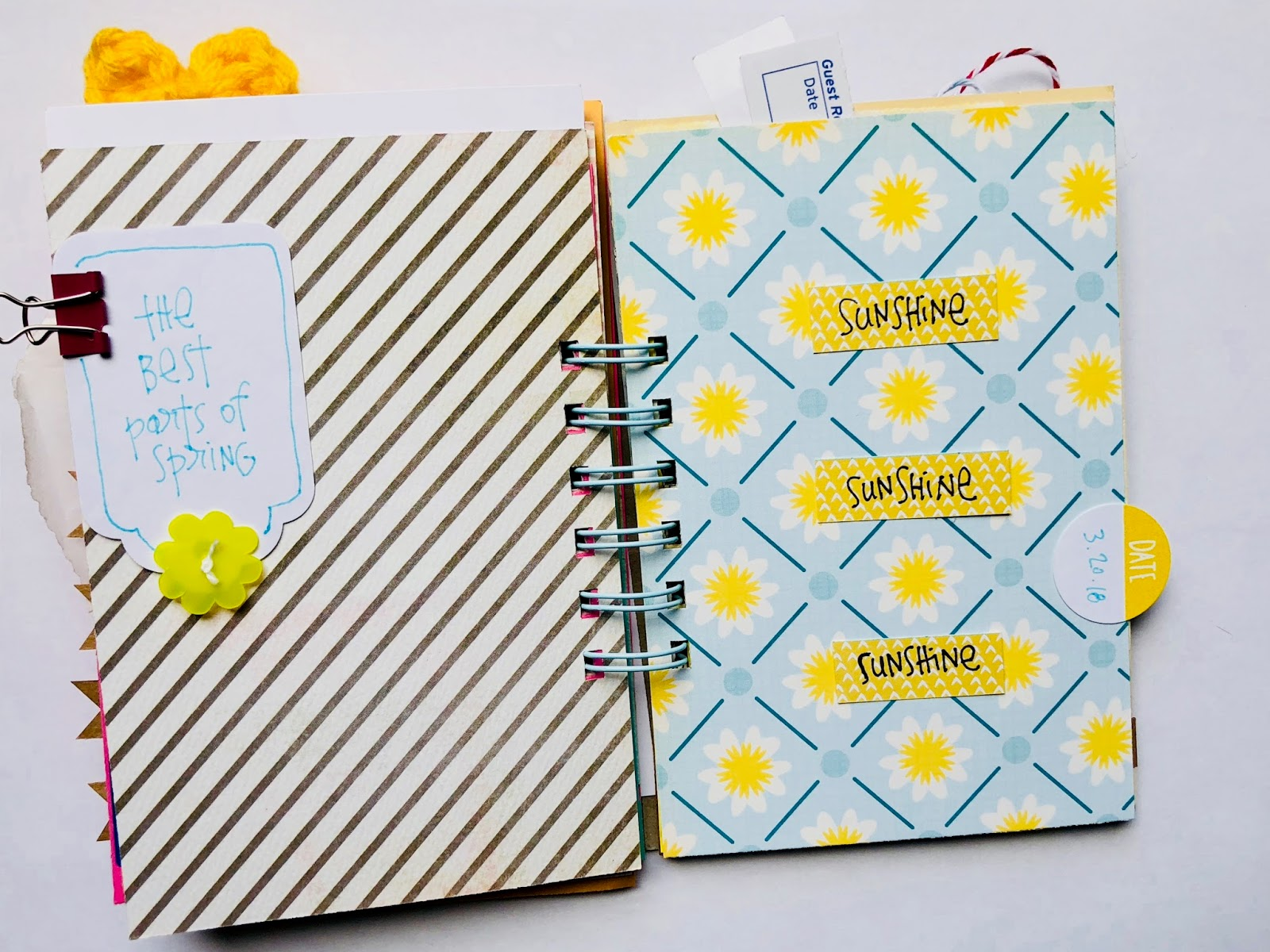 #30lsts #30 Days of Lists #mini book #spring #smashbook #mini album #listing journal