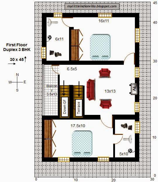 South Facing Duplex House Floor Plans | Amazing House Plans