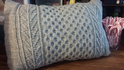 turned a honeycomb sweater into a pillow.  http://shrsl.com/qxde