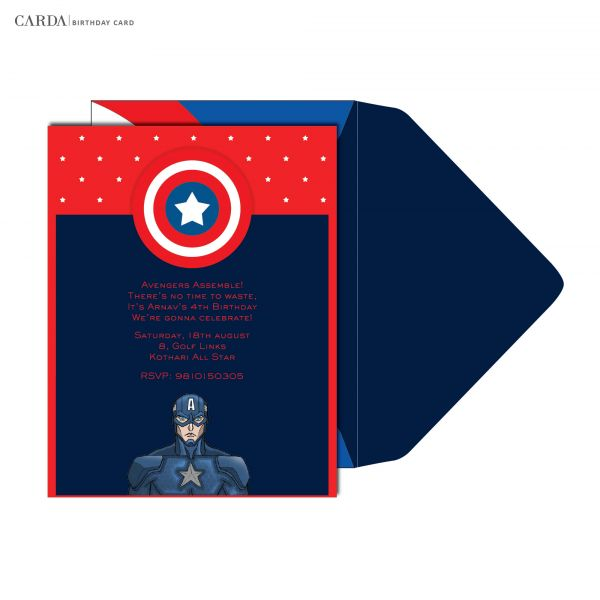 the birthday card invites have been designed so that when you celebrate your little ones birthday then celebrate that of a hero