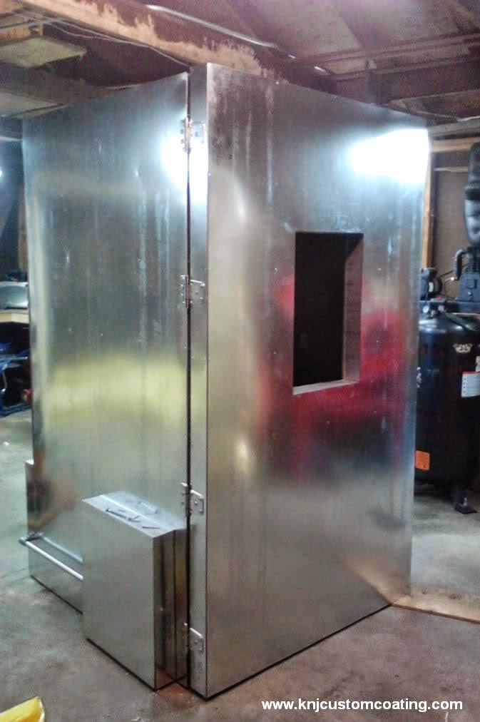 build large powder coating oven diy
