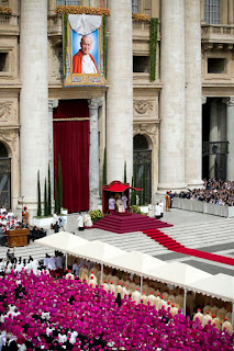 The beatification ceremony at St Peter's in 2011 attracted huge crowds