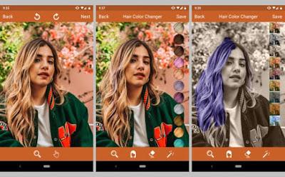 aplikasi pengubah warna rambut gratis di Android 5 Aplikasi Pengubah Warna Rambut Gratis Di Android
