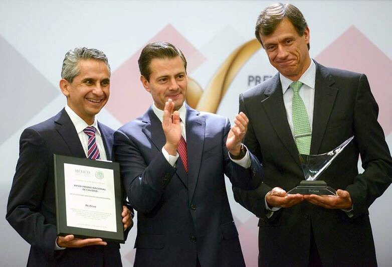 PetStar, una empresa de Arca Continental, recibe el Premio Nacional de Calidad 2017