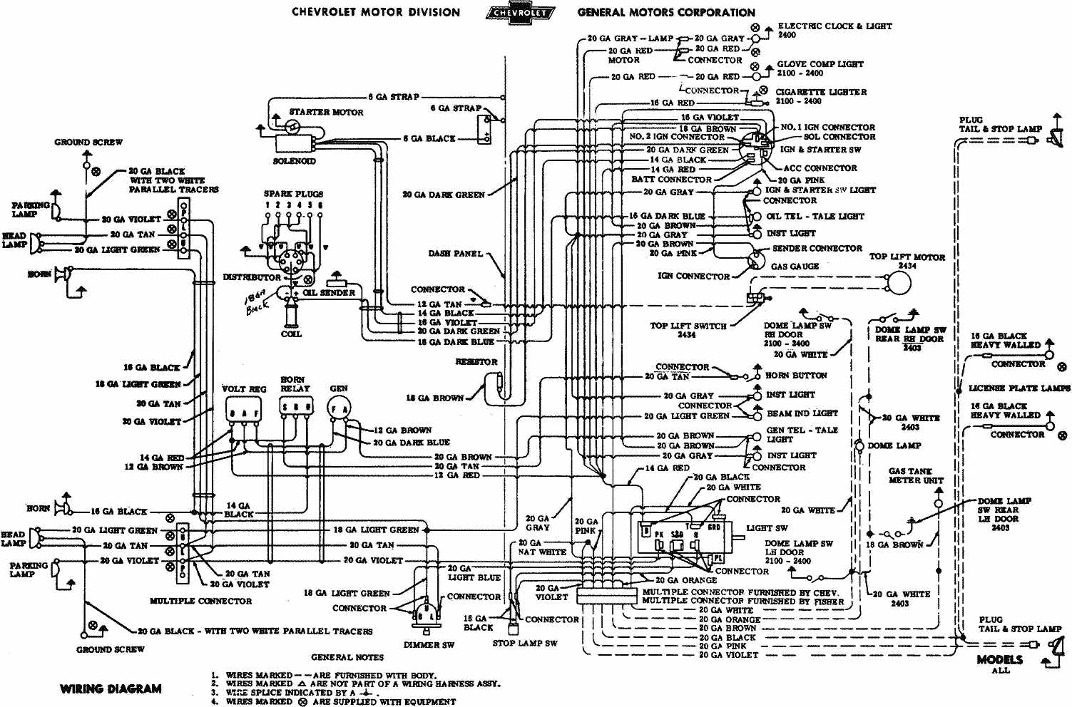 Gauge Wiring Diagram For 1954 Libraries 1970s Ford Harness Connectors 1957 Chevy Bel Air Third Level1957 Chevrolet Electrical Diagrams