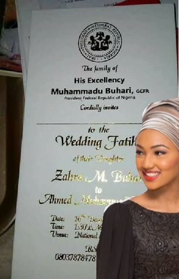 At Last, Zahra Buhari's Wedding Date Fixed, See Very Cheap Wedding IV That Has Got Everybody Talking