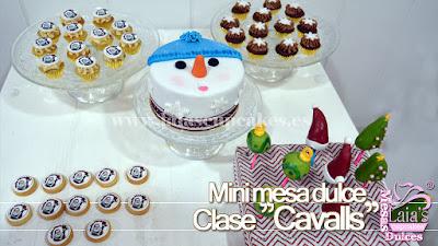 Mesa dulce tarta personalizada fondant galletas cookies mini cupcakes cakepops Laia's Cupcakes Puerto Sagunto
