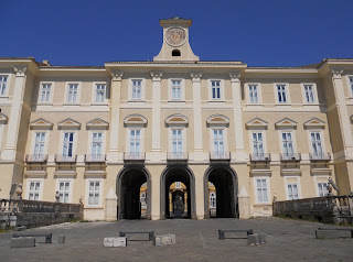 The facade of the Royal Palace at Portici