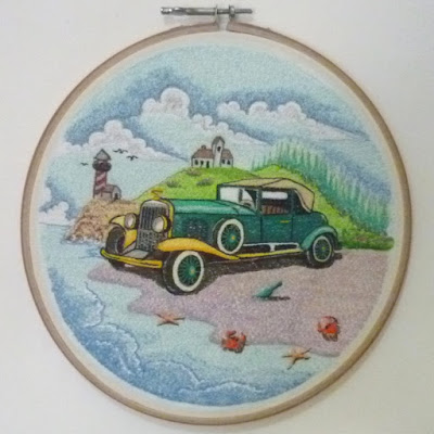 lukisan bordir mobil antik