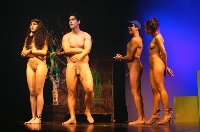 Naked stage dance video