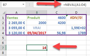 la fonction NBVAL