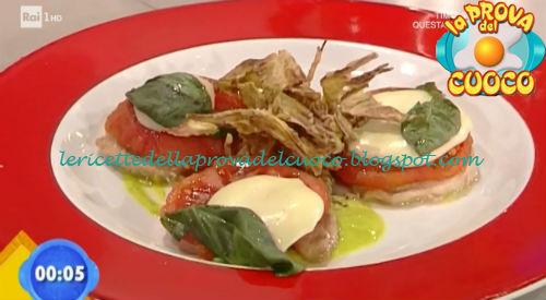 Millefoglie di vitella e zucchine con carciofi fritti ricetta Improta da Prova del Cuoco