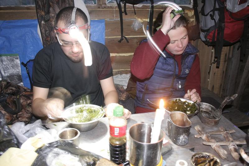 хижина ужин на камчатке поход