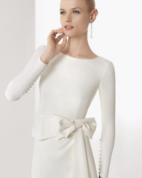 Vestido de novia moderno manga larga